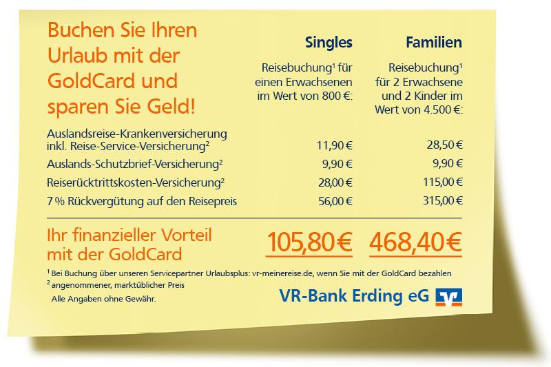 Vorteile mit der GoldCard