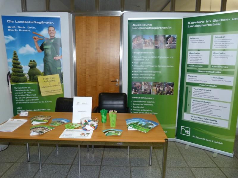 Ausbildungsmesse Stand Beruf Landschaftsgärnter