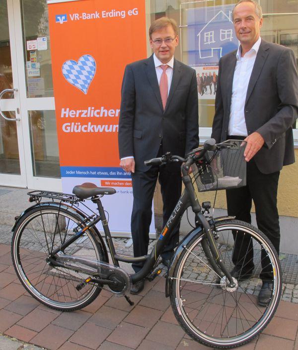 VR-Bank Erding EG Fahrrad Für Außentermine