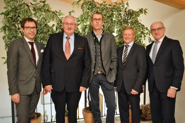 Verabschiedung Friedrich Reiser mit Dr. Jürgen Gros (GVB) und Joachim Reinke (Union Investment)