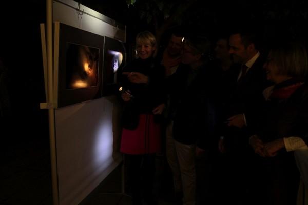 Vernissage Claus Langheinrich im dunkeln